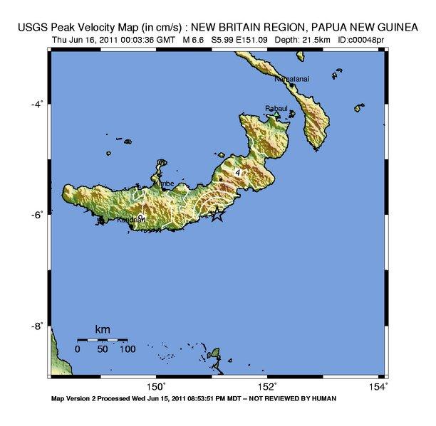 Shake Map PGV