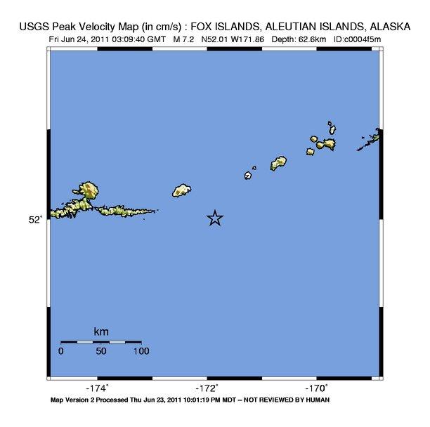 Shake Map - Velocity