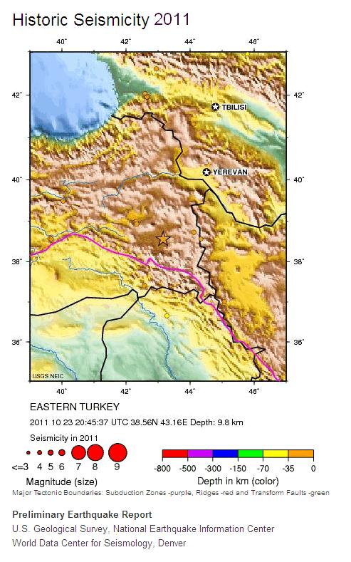 Historic Seismicity 2011