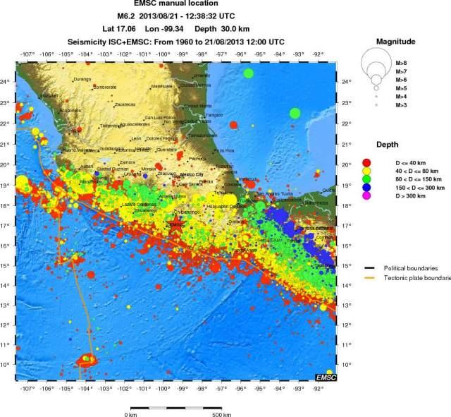 Strong Earthquake Guerrero. Mexico 21-Aug-13 (b000j83t ...